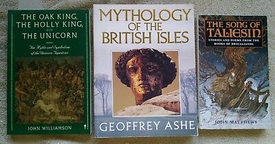3 Lot British Legend Mythology Oak Holly King Unicorn Taliesin Isles Celtic