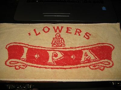 BEER BAR PUB Towel; LOWERS IPA ;Vintage GREAT BRITIAN / ENGLAND; Colorful.