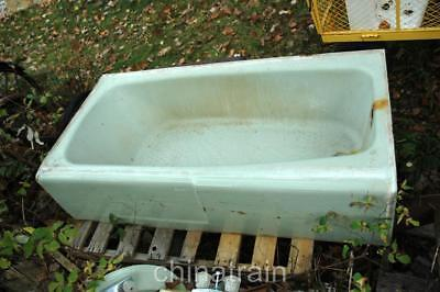 Vintage Antique American Standard 5' Green Cast Iron Bathtub Bath Tub