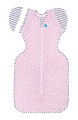 Love to Dream Swaddle Up 50/50 LITE 0.2TOG - PINK DOT - 3 SIZES - ZIP UP SWADDLE