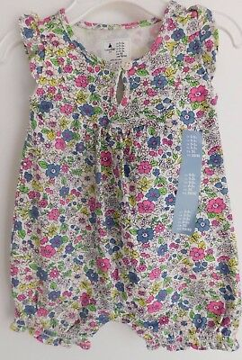 NWT Gap Baby Girl 1Pc Floral Print Knit Romper 0-3M MSRP$23 Free Shipping NEW