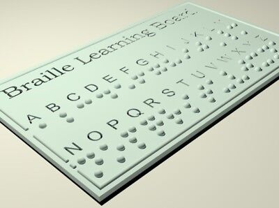 Braille alphabet learning board sensory tool for the blind special need 3d print