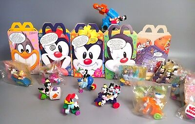 1993 ANIMANIACS Happy Meal Toys COMPLETE SET w/ Boxes & Extras McDonalds