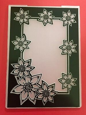 NEW• DAISY FRAME EMBOSSING FOLDER For Cuttlebug Or Sizzix