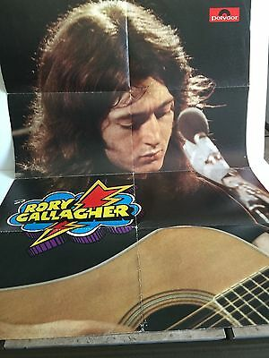 """Original RORY GALLAGHER German Poster """"Live in Europe"""" Promotional Poster 1973"""