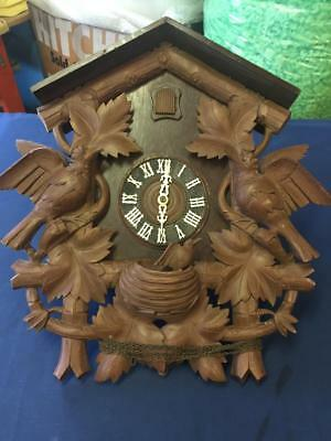 Extra Large Black Forest Cuckoo Clock Real Nice Motor & Body For Repair Or Parts