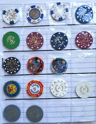Australian Casino Chip Collection - Poker, Roulette gaming tokens