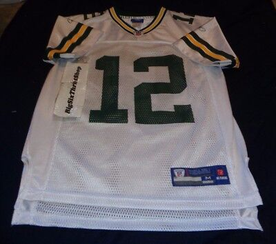 5d6e7e1cb61 Aaron Rodgers #12 Green Bay Packers Reebok NFL Football Jersey Medium Youth