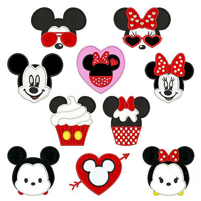 MOUSE SET * Machine Applique Patterns 10 Designs,4 Sizes