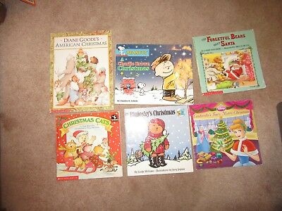 Lot of 6 Children Christmas Snow Winter Picture Books Christmas Cats Bialosky's