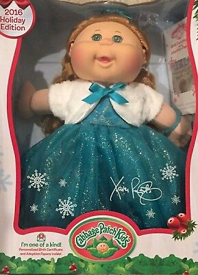 2016 Holiday Edition Cabbage Patch Kids Kid Doll New Christmas