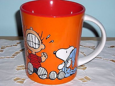 New ~ Peanuts Ceramic Snoopy & Linus Coffee Mug Cup ~ Crying Isn't Going To Help
