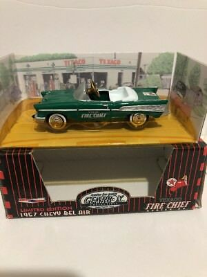 1997 Gearbox Limited Edition Texaco Fire Chief Green 1957 Chevy Belair Pedal Car