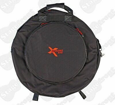 "Cymbal Bag 22"" Heavy Duty Exterior 3 Reinforced Interior Compartments Da571"