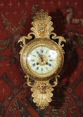 Antique French Classical Cartel Wall Clock
