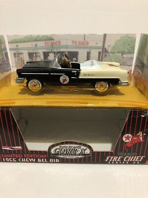 1997 Gearbox Limited Edition Texaco Fire Chief Black 1955 Chevy Belair Pedal Car