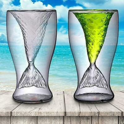Double Layer Mermaid Tail Cocktail Glass
