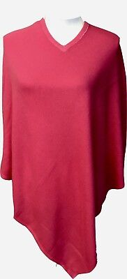 Cashmere Poncho Fuchsia Winter Women Pashmina Cardigan Warm Wrap Cape 28""