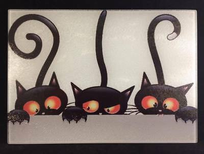 Funny, Novelty, Tempered glass chopping board, cat, dog, gift, Halloween