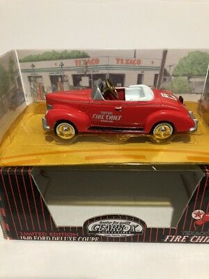 Gearbox Limited Edition Texaco Fire Chief Red 1940 Ford Deluxe Coupe Pedal Car
