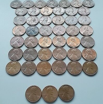 1959-1982 P&D Lincoln Memorial Copper Cents Set, 46 Coin Lot, Lg & Small Dates