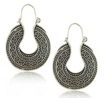 Pair of Handmade Antique Silver Earrings, Bohemian Earrings Fashion Earrings