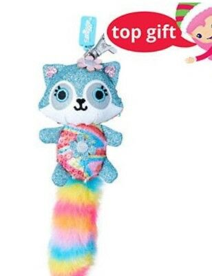 Smiggle Sparkle Fluffy Character Keyring Adorable Fab Gift 💝