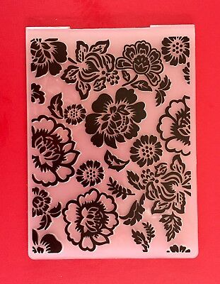NEW• FORMAL FLORAL EMBOSSING FOLDER For Cuttlebug Or Sizzix