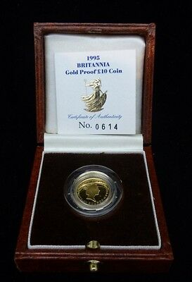 1995 Proof Gold Britannia 1/10 oz Coin Original Royal Mint Case & COA Britain UK