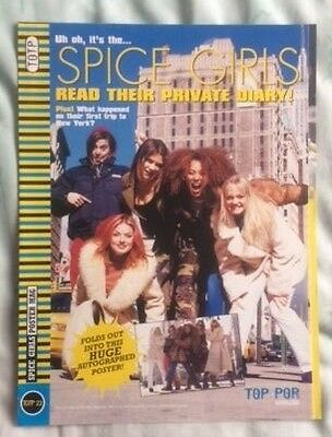 "SPICE GIRLS Original Vintage Top of the Pops Magazine "" Read ..."" Poster Mag"