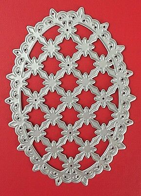 NEW• LATTICE OVAL DIE For Cuttlebug Or Sizzix