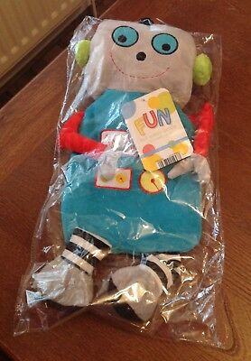Robot Shaped Hot Water Bottle with Cover Fun Kids Novelty - New