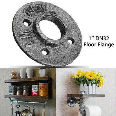 1 Inch DN32 Industrial Style Silver Cast Iron Steel Tube Pipe Floor Flange