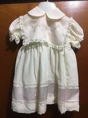 COLORICHIARI MADE IN ITALY IVORY Christening Gown Sz 0-3 MTH  Bnwt (E82)