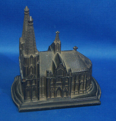 An antique Victorian metal souvenir trinket box model Dom Zu Koln cathedral