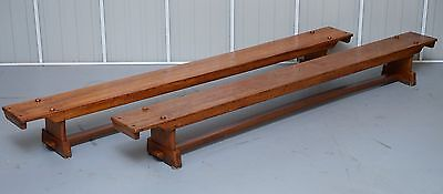 Pair Of Restored Vintage G Henshall Davies & Son Gymnastic School Gym Benches