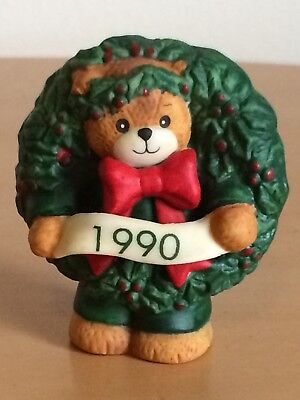 """Lucy Rigg~Lucy and Me Bear """"1990 Christmas Wreath"""""""