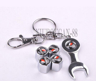 Car Accessories Keychain Tyre Dust Cover Tire Wheel Valve Cap For Toyota TRD