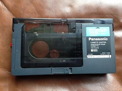 PANASONIC VW-TCA7E...C-VHS Adapter - Camcorder Tapes to instant VHS Play.