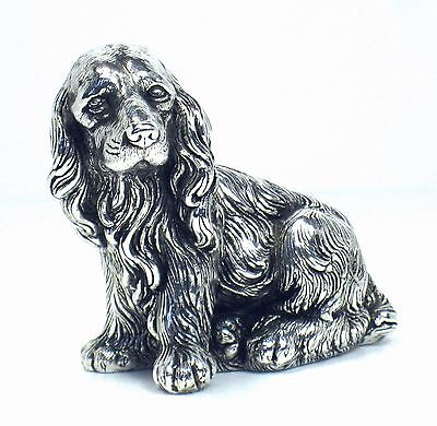 Cocker dog sterling silver sculpture – very realistic