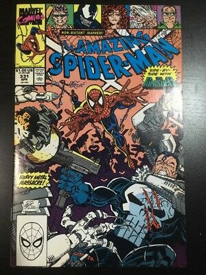 AMAZING SPIDER-MAN #331 APR 1990 VF+ 8.5 Grade Punisher Appearance