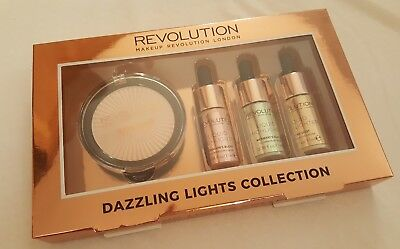 makeup revolution dazzling lights collection highlight makeup gift set