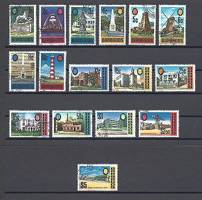 Barbados 1970-71 Sg 399/414 Used Cat £24