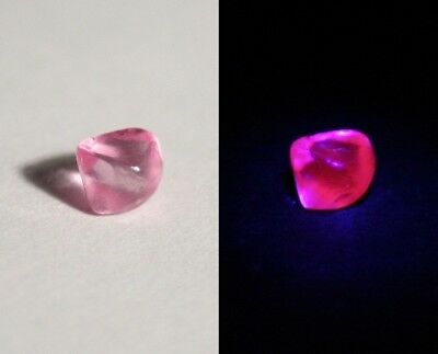 AAA Mahenge Hot Pink Spinel Rough 0.76ct Flawless Rare Fluorescent Pink Spinel