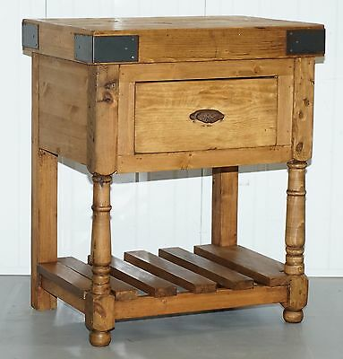 Very Nice Solid Wood Butchers Block With Large Central Drawer Handy Kitchen Aid