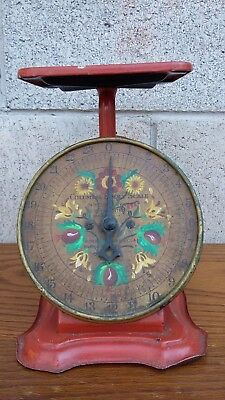 Antique Columbia Family Scale Hand-Painted Scandinavian Floral Rosemaling
