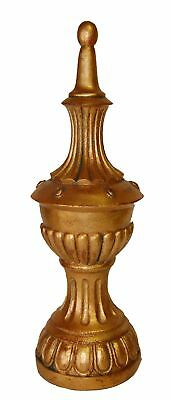 Hickory Manor House Fluted Tall Finial, Gold
