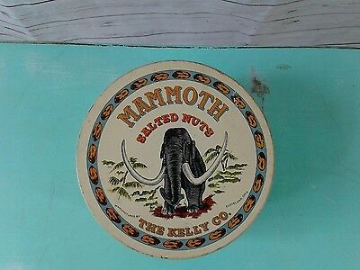Vintage Tin Mammoth Salted Nuts Kelly Co.Cleveland Ohio