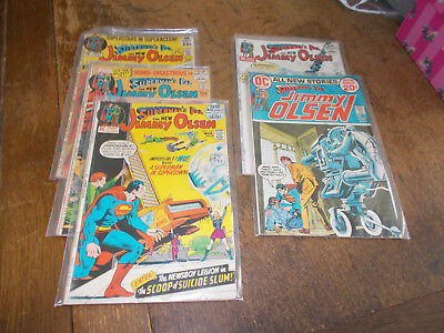 Jimmy Olsen Superman's Pal - 5 issues #145 #146 #147 #148 #152 - DC 1972 Kirby