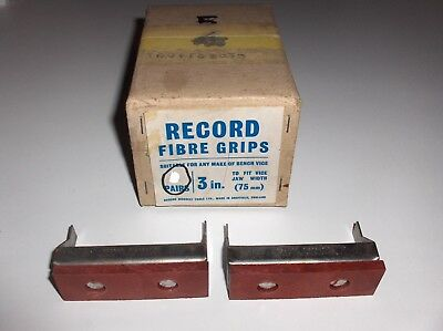 """Record Fibre Grips FG3 3"""" / 3 Inch To Fit Vice Jaw Width 75mm - 1 Pair"""